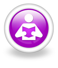 "Violet Icon ""Library / Reader Symbol"""