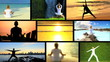 Montage Images Female Yoga Fitness Practice