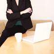 Schreibtisch einer Geschäftsfrau