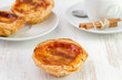 pastel de nata on the white plate