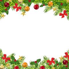 Fondo bolas, regalos y estrellas de navidad