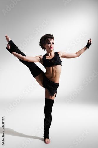 Plexiglas ballet dancer in rehearsal