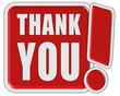 !-Schild rot quad THANK YOU