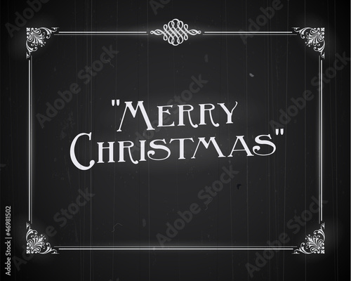 Movie still screen - Merry Christmas - Editable Vector EPS10