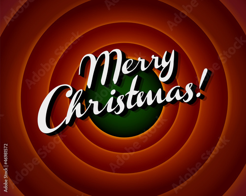Movie ending screen - Merry Christmas - Vector EPS10