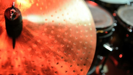 Cymbal close up