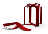 white ribbon gift