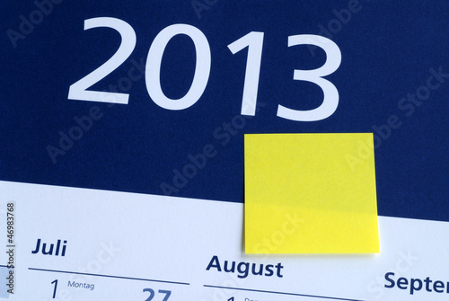 2013, Blankozettel, Neujahr, Silvester, Jahresanfang, Kalender