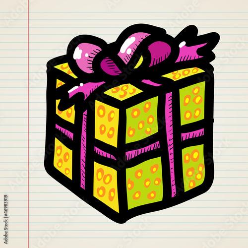 Doodle cartoon gift