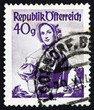 Postage stamp Austria 1948 Woman from Vienna, 1840