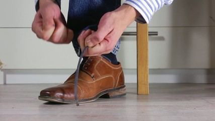 Tying Shoe laces