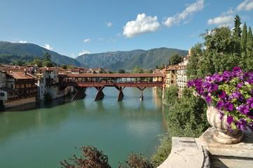 """View of Bassano del Grappa and """"Alpini"""" Bridge"""