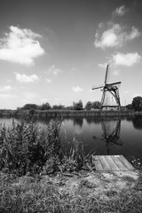 A photo of the mills in Kinderdijk