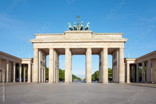 Leinwandbild Motiv Brandenburg gate, blue sky, Berlin, Germany