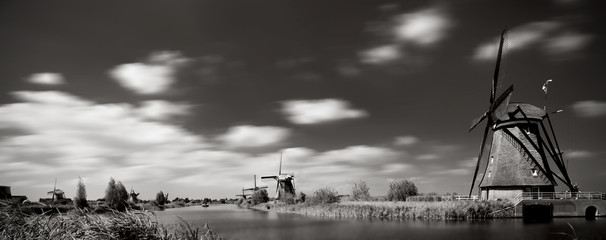 A photo of the mills in Kinderdijk
