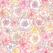 Vector subtle field flowers elegant seamless pattern background