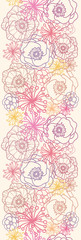 Vector subtle field flowers elegant vertical seamless pattern