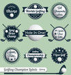 Vector Set: Vintage Golf Labels