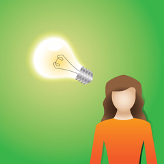 Idea abstract concept symbolized by a light bulb, vector