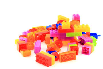 Lego plastic toy cubes