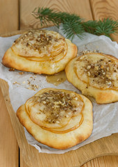 Sweet pizza with pears