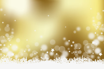 Christmas gold vector background