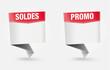 étiquette SOLDES, PROMO
