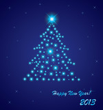 Vector illustration of 2013 New Year greeting card