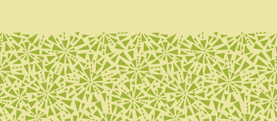 Vector Abstract triangles texture horizontal seamless pattern