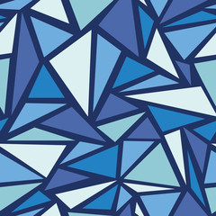 Vector Abstract ice chrystals seamless pattern background with
