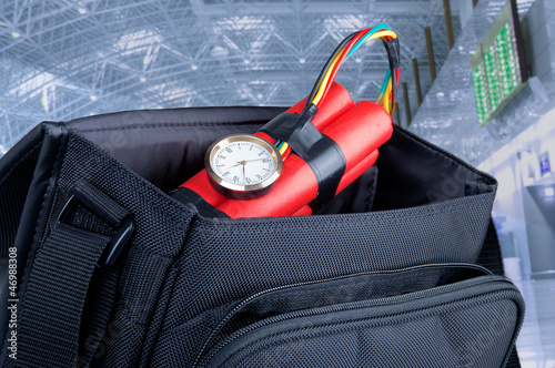 time bomb in a backpack