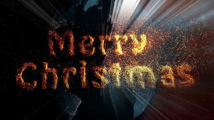 Merry Christmas, magic, gold dust