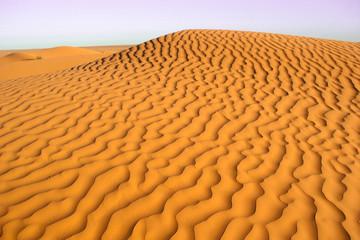 Wavy sand dune