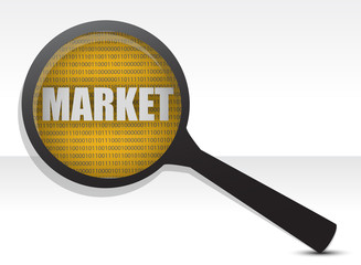 market under a magnifier
