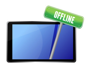 tablet with offline message