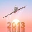 2013年号と飛行機