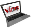Laptop Screen Virus Word Magnifying Glass