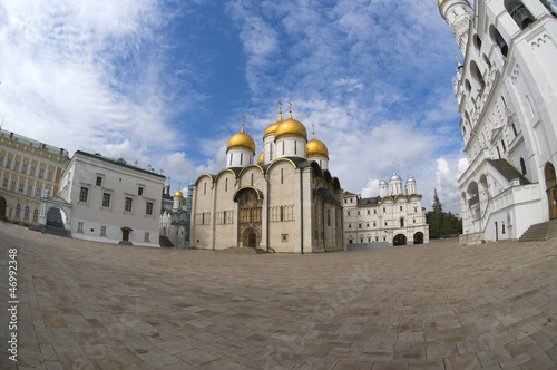 View of the Cathedral Square of the Moscow Kremlin