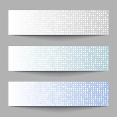 Set of Technology pixel banners, vector illustration