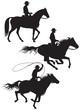 Cowboy rancher silhouettes