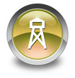 "Yellow Glossy Pictogram ""Lookout Tower"""