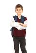 Cheerful school boy