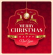 Christmas greeting decorative label - vector illustration
