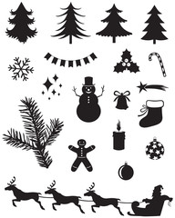 Christmas silhouettes