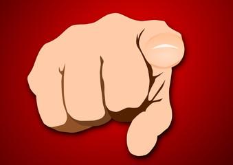 Hand-Zeigefinger, Vektor