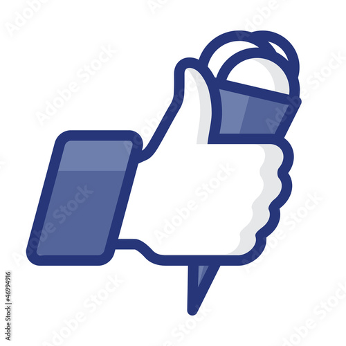 Thumbs Up icon with daily activity, vector Eps 8 image