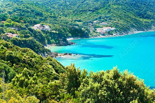 Beautiful coastlines in Elba island. - 46996321