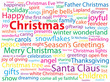 """CHRISTMAS"" Tag Cloud (merry happy santa claus tree greetings)"