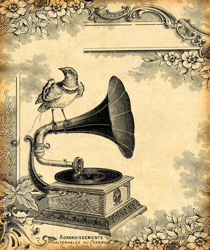 Sticker gramophone 1900