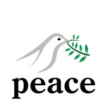 Vector logo Peace
